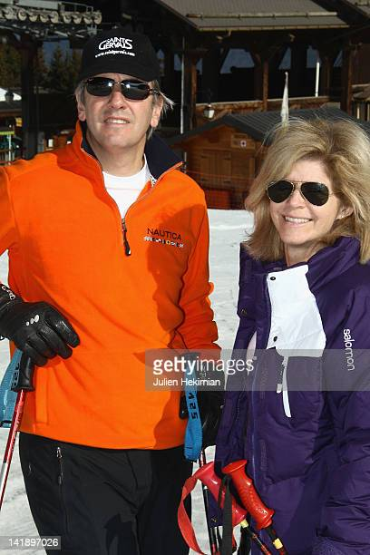 Bernard de la Villardiere and his wife Anne participate to 'Le Mont Blanc Des Medias' 7th Edition on March 24 2012 in SaintGervaislesBains France