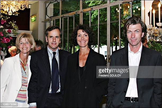 Bernard De La Villardiere, Caroline Tresca and Philippe Caroit in Paris, France on May 30th, 2005.