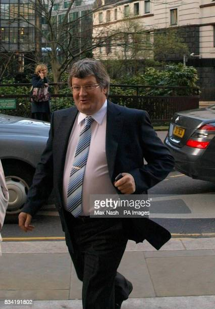 Bernard Dwyer arrives at the Old Bailey for the sentencing of three armed robbers he fought off who were holding a knife to his daughter's throat a...