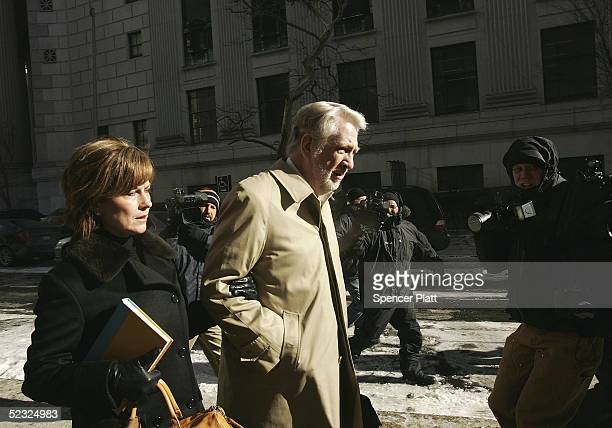 Bernard Ebbers former CEO of WorldCom enters Manhattan federal court with his wife Kristie March 9 in New York City Ebbers is accused of...