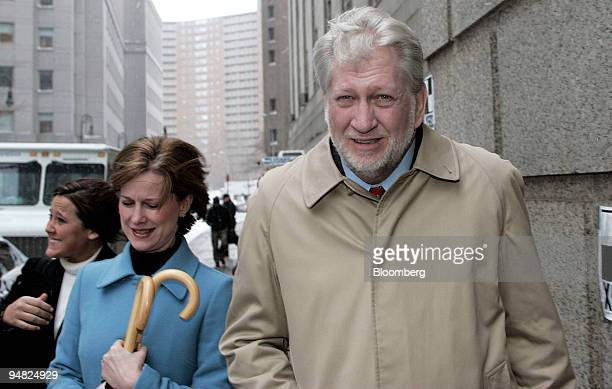 Bernard Ebbers former CEO of Worldcom is accompanied by his wife Kristie as they leave Manhattan Federal Court where the jury continues to deliberate...