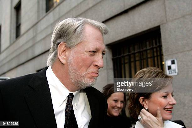 Bernard Ebbers former CEO of Worldcom is accompanied by his wife Kristie right and one of his daughters as they leave Manhattan Federal Court where...