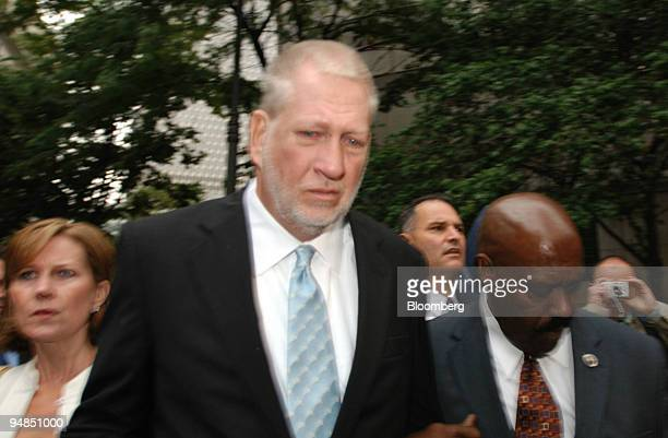 Bernard Ebbers former chairman of WorldCom center leaves federal court with his wife Kristie left Wednesday July 13 in New York Ebbers was sentenced...
