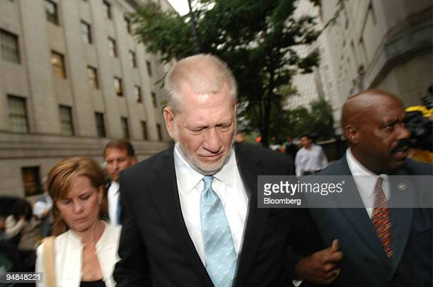 Bernard Ebbers former chairman of WorldCom Inc center leaves federal court with his wife Kristie left Wednesday July 13 in New York Ebbers was...