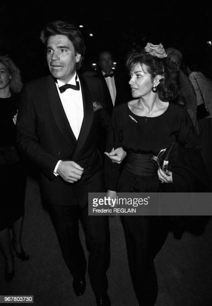 Bernard et Dominique Tapie lors de la soirée des 7 d'Or à Paris le 25 octobre 1985 France