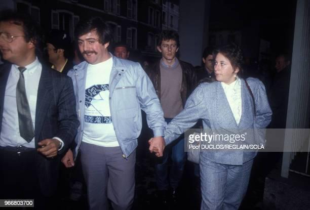Bernard et MarieAnge Laroche accusés dans l'affaire Grégory Villemin assassiné en 1984 le 18 juillet 1985 France