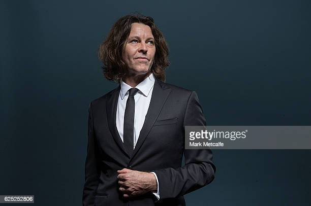 Bernard Fanning poses for a portrait after receiving an ARIA for Best Adult Contemporary Album during the 30th Annual ARIA Awards 2016 at The Star on...