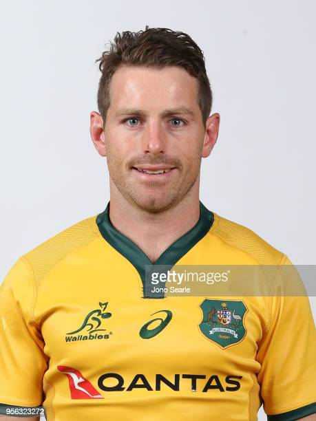 Bernard Foley poses during the Australian Wallabies headshot session on May 7 2018 in Gold Coast Australia