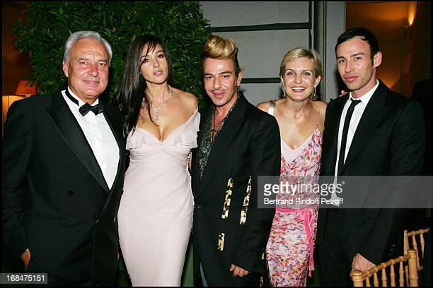 Bernard Fornas Monica Bellucci John Galliano Melita Toscan Du Plantier and Alexis Roche 23rd antic fair in Paris followed by a dinner to the benefit...
