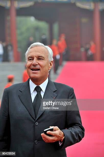 Bernard Fornas President and CEO of Cartier attends the opening of the 'Cartier Treasures' exhibition at the Forbidden City September 4 2009 in...