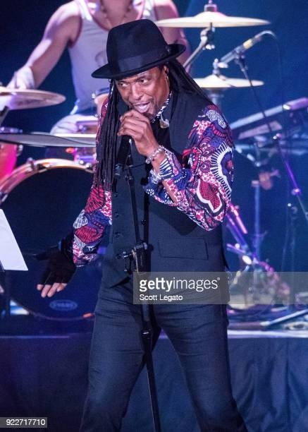 Bernard Fowler performs during the Celebrating David Bowie concert at The Royal Oak Music Theater on February 19 2018 in Royal Oak Michigan