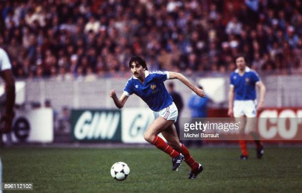 Bernard Genghini of France during the International Friendly match between France and Peru at Parc des Princes in Paris on April 28th 1982