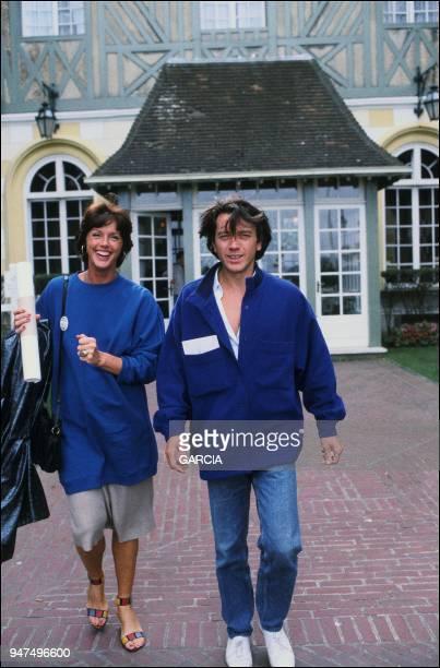Bernard Giraudeau and Annie Duperey Deauville 1987
