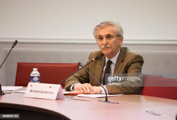 Bernard Guillochon Paris Universite Dauphine Gerard Vespierre Associate Researcher at the Fondation d Etudes pour leOrient speaks in a conference at...