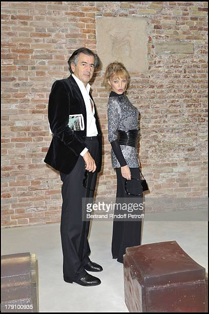 Bernard Henri Levy and Arielle Dombasle at Inauguration Of The New Venue The Punta Della Dogana Gallery Showing Francois Pinault's Art Collection