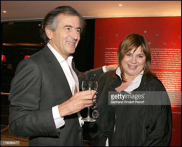 Bernard Henri Levy and Michele Bernier at Premiere Party For La Traversee Du Desir By Arielle Dombasle