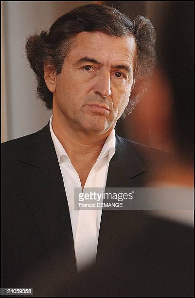 Bernard Henri Levy at the '25eme Livre sur la place' book festival of Nancy in France on September 20 2003