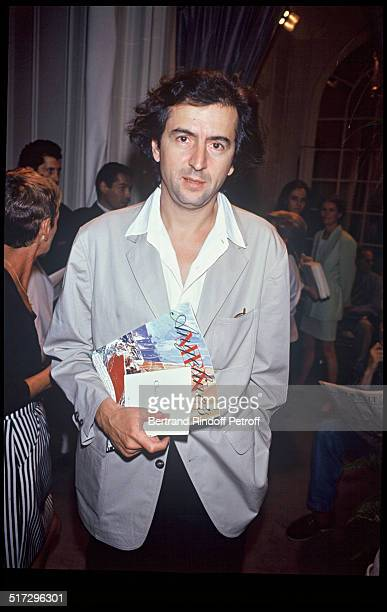 Bernard Henri Levy during a fashion show in 1992