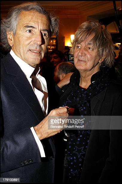 Bernard Henri Levy Jacques Higelin at The 20th Anniversary Of La Regle Du Jeu Celebrated At The Cafe De Flore In Paris