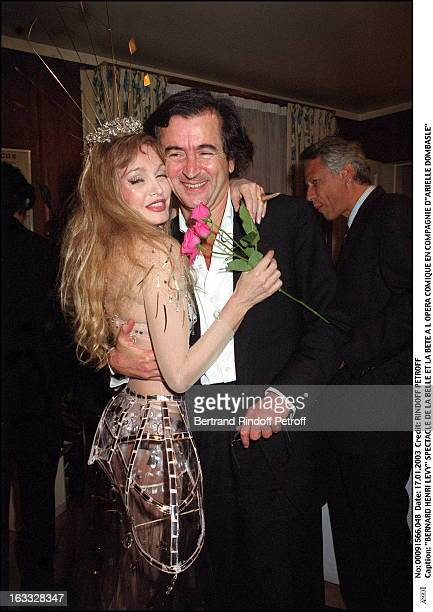 Bernard Henri Levy play of Beauty and the Beast at the Comic opera of Paris along with Arielle Dombasle