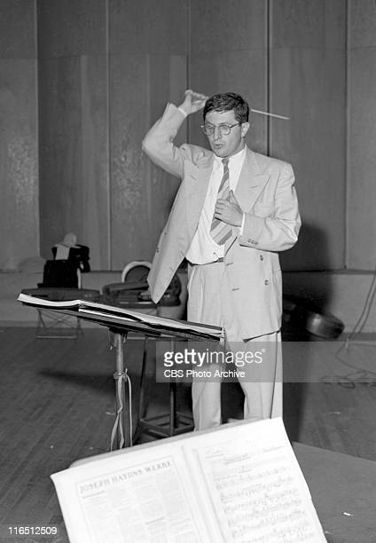 Bernard Herrmann conducting Columbia Broadcasting Symphony Orchestra Image dated July 18 1947