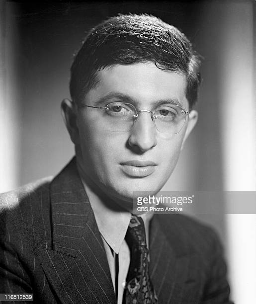 Bernard Herrmann conductor of the Columbia Broadcasting Symphony Orchestra Image dated July 12 1938