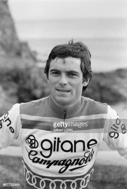 Bernard Hinault chez lui à Yffiniac en Bretagne le 26 avril 1977, France.