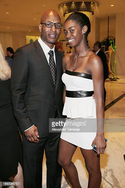 Bernard Hopkins and Jeanette Hopkins attend the Blacks' Annual Gala at Fontainebleau Miami Beach on April 13 2013 in Miami Beach Florida