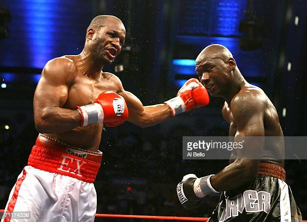 Bernard Hopkins connects with a left hand hook against Antonio Tarver during their IBO Light Heavyweight Championship fight at Boardwalk Hall on June...