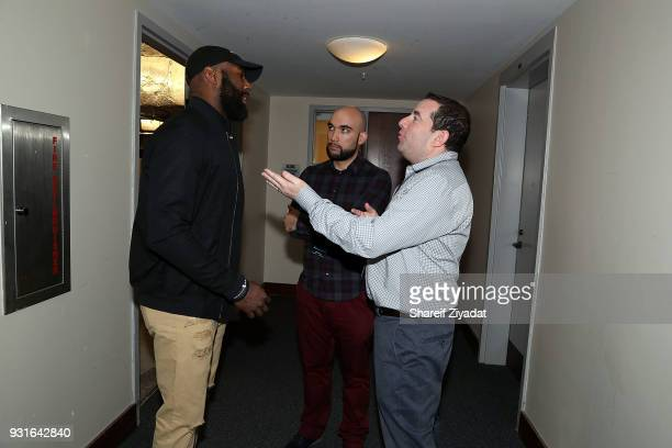 Bernard Hopkins Didier Morais and Ron Berkowitz attend Reform Bringing Injustice To Light at Irvine Auditorium on March 13 2018 in Philadelphia...