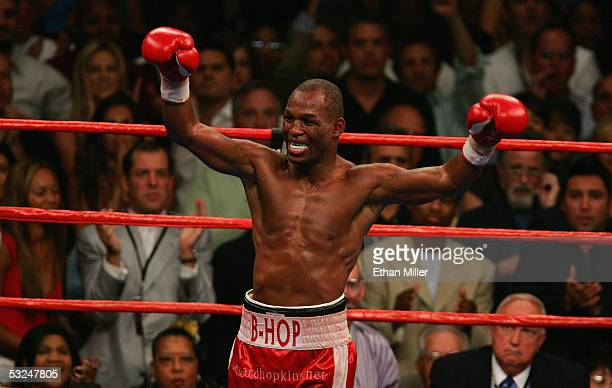 Bernard Hopkins has a premature celebration before the winner of his undisputed middleweight championship fight against Jermain Taylor was announced...
