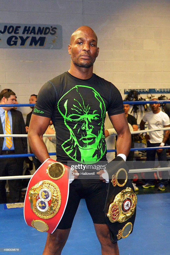 Bernard Hopkins poses for a photograph at Joe Hand Boxing Gym on October 28, 2014 in Philadelphia, Pennsylvania.
