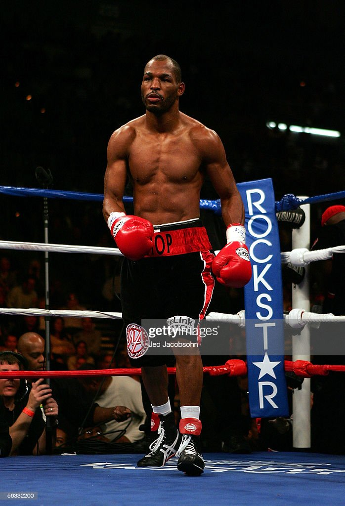 Bernard Hopkins walks out of his corner to fight Jermain Taylor during the undisputed world middleweight championship fight at the Mandalay Bay Events Center in Las Vegas, Nevada. Taylor defeated Hopkins by a unanimous decision.