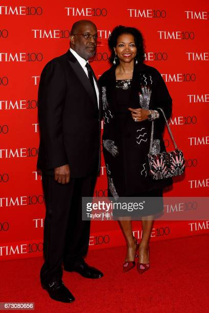 Bernard J Tyson and Denise BradleyTyson attend the 2017 Time 100 Gala at Jazz at Lincoln Center on April 25 2017 in New York City