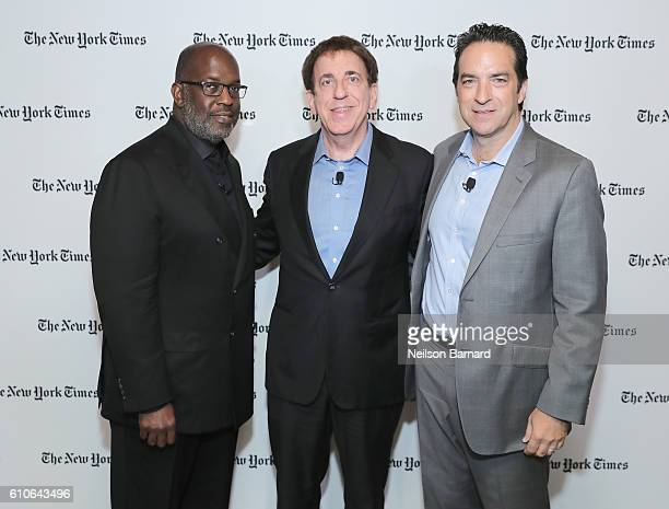 Bernard J Tyson Dean Ornish Adam Bryant attend the New York Times Food For Tomorrow Conference 2016 on September 27 2016 in Pocantico New York