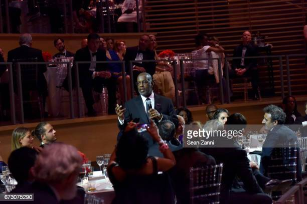 Bernard J Tyson speaks at the 2017 TIME 100 Gala at Jazz at Lincoln Center on April 25 2017 in New York City