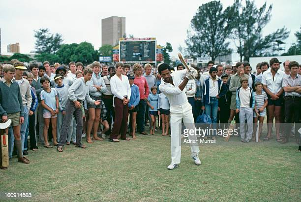 Bernard Julien of the rebel West Indies XI in Durban for a oneday international during the team's tour of South Africa February 1983