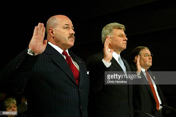 Bernard Kerik, fomer NYPD Commissioner, Thomas Von Essen, former FDNY Commissioner, and Richard Sheirer, former director of the New York Office of...