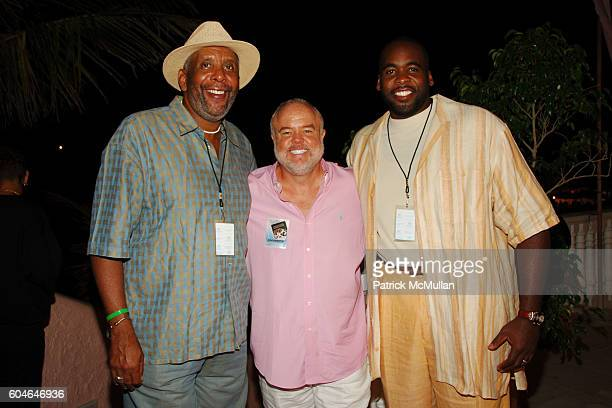 Bernard Kilpatrick Rock Newman and Kwame Kilpatrick attend BERMUDA MUSIC FESTIVAL 2006Day 1 at Fairmont Southampton Beach Club on October 4 2006 in...