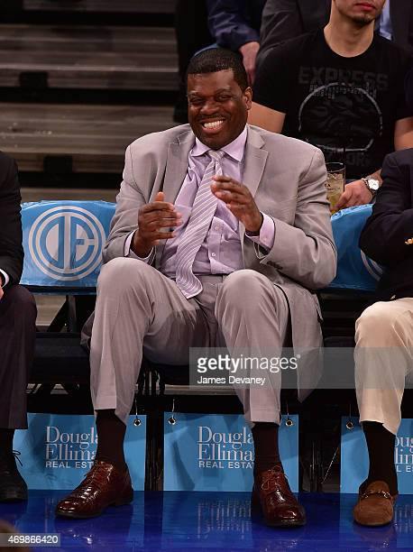 Bernard King attends Detroit Pistons vs New York Knicks game at Madison Square Garden on April 15 2015 in New York City