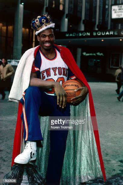 Bernard King of the New York Knicks poses for a portrait in front of Madison Square Garden in New York New York NOTE TO USER User expressly...