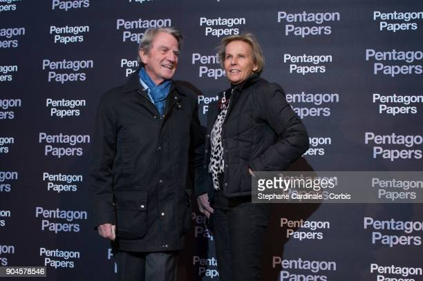 Bernard Kouchner and Christine Ockrent attend 'Pentagon Papers' Premiere at Cinema UGC Normandie on January 13 2018 in Paris France