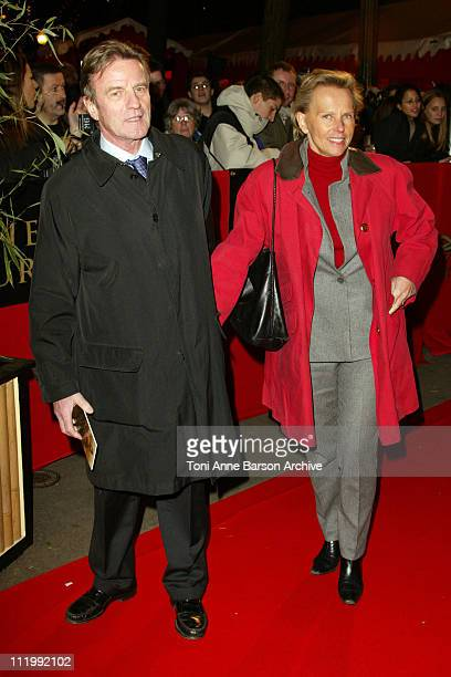 Bernard Kouchner and Christine Ockrent during The Last Samurai Paris Premiere Outside Arrivals at Grand Rex in Paris France