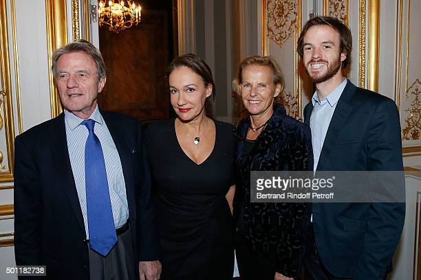 Bernard Kouchner Laurence Haim Christine Ockrent and his son Alexandre Kouchner at Laurence Haim Is Honoured With The Insignes De Chevalier De La...