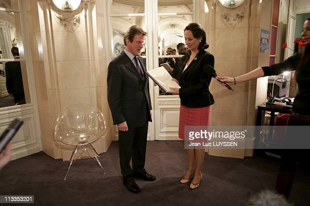 Bernard Kouchner Sends His Report On The Civil Service To Segolene Royal In Paris France On February 22 2007
