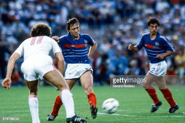 Bernard Lacombe of France during the Semi Final Football European Championship between France and Portugal Marseille France on 23 June 1984
