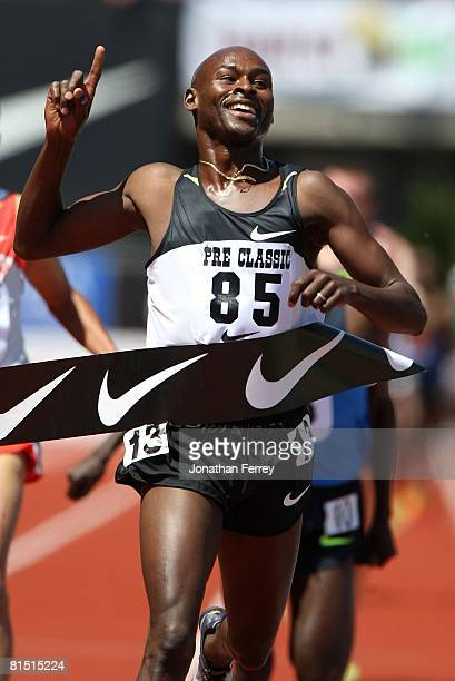 Bernard Lagat of the United States runs in the 2 mile race during the Prefontaine Classic on June 8 2008 at Hayward Field in Eugene Oregon