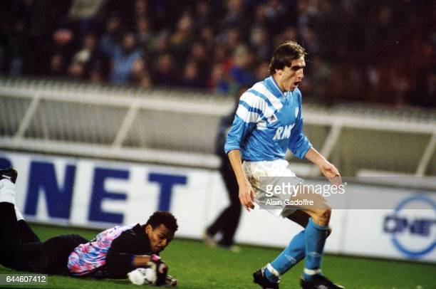Bernard Lama / Alen BOKSIC Paris Saint Germain / Marseille Division 1 Photo Alain Gadoffre / Icon Sport