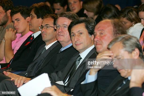 Bernard LAPASSET / Patrick DE CAROLIS Rugby Heineken Cup/Coupe d'Europe Presentation des principaux jouers/capitaines et entraineurs des sept clubs...
