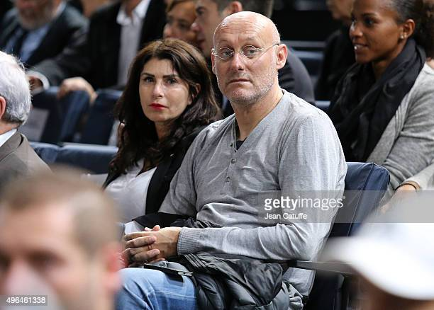 Bernard Laporte and his wife Manon Laporte attend the final on day 7 of the BNP Paribas Masters held at AccorHotels Arena on November 8 2015 in Paris...
